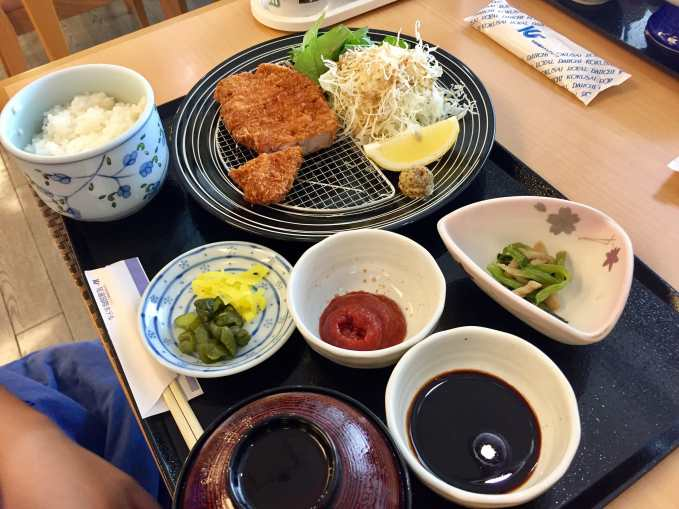 My boy's Japanese lunch shortly after check-in of the Onomichi Kukusai Hotel