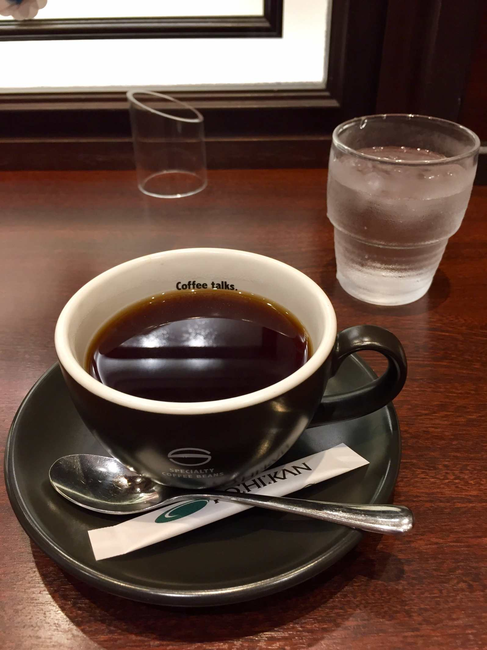 Dark roast cofee at KO:HI:KAN Kurashiki