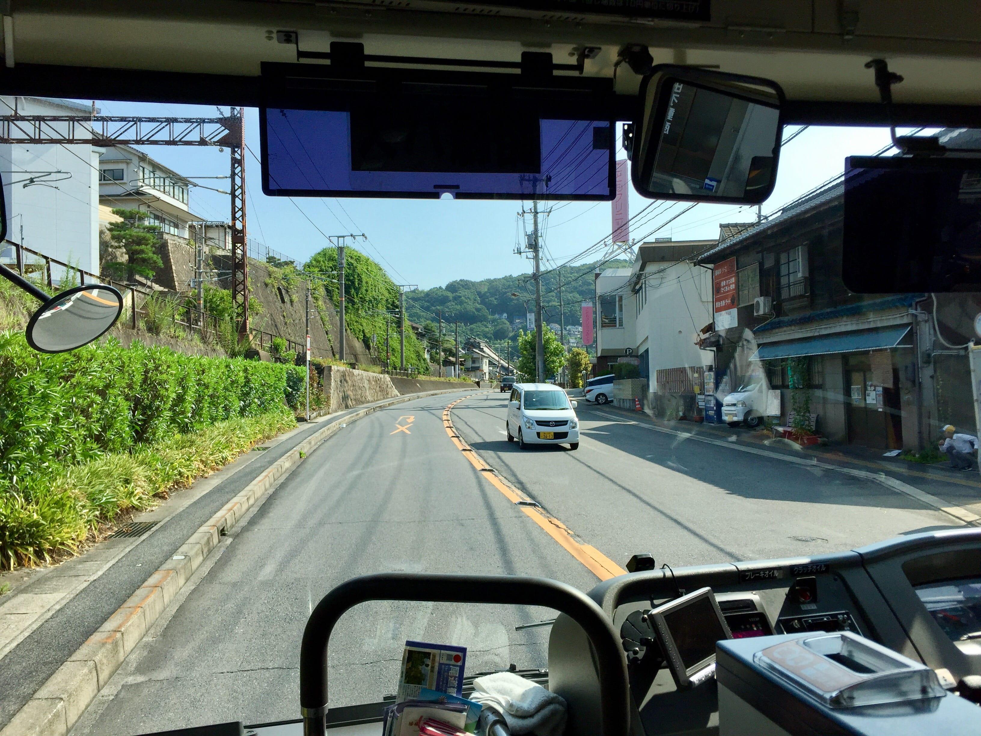 Going along National Highway 2 to Onomichi Bridge