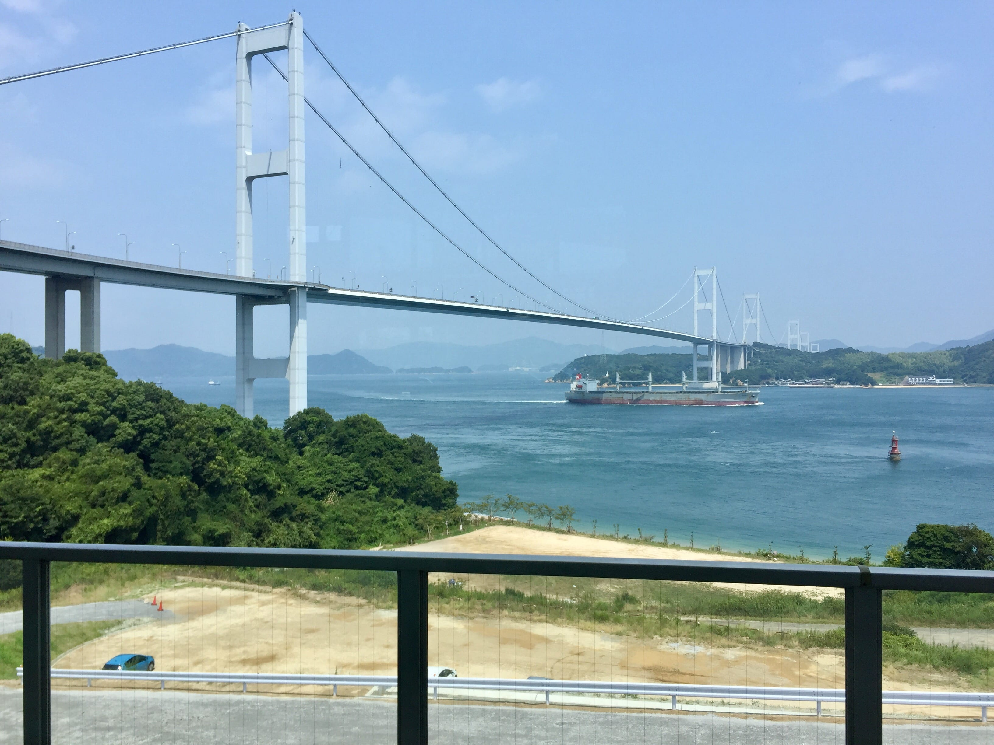 Stunning view of Kurushima Kaikyo Bridge from Kaze at Sunrise Itoyama