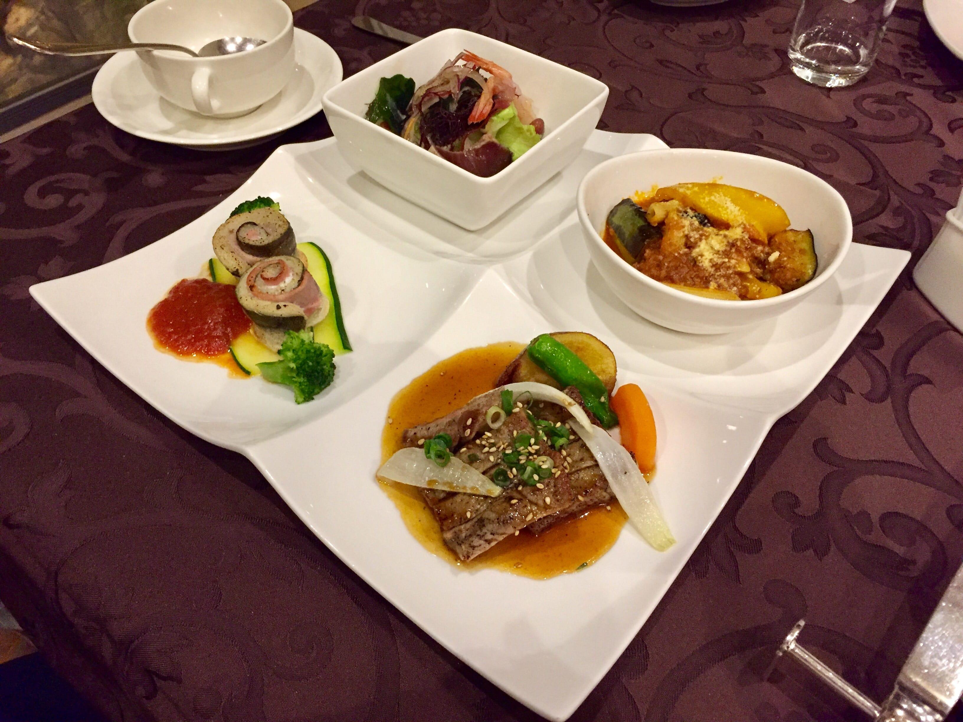 My French set dinner at the Imabari Kokusa Hotel