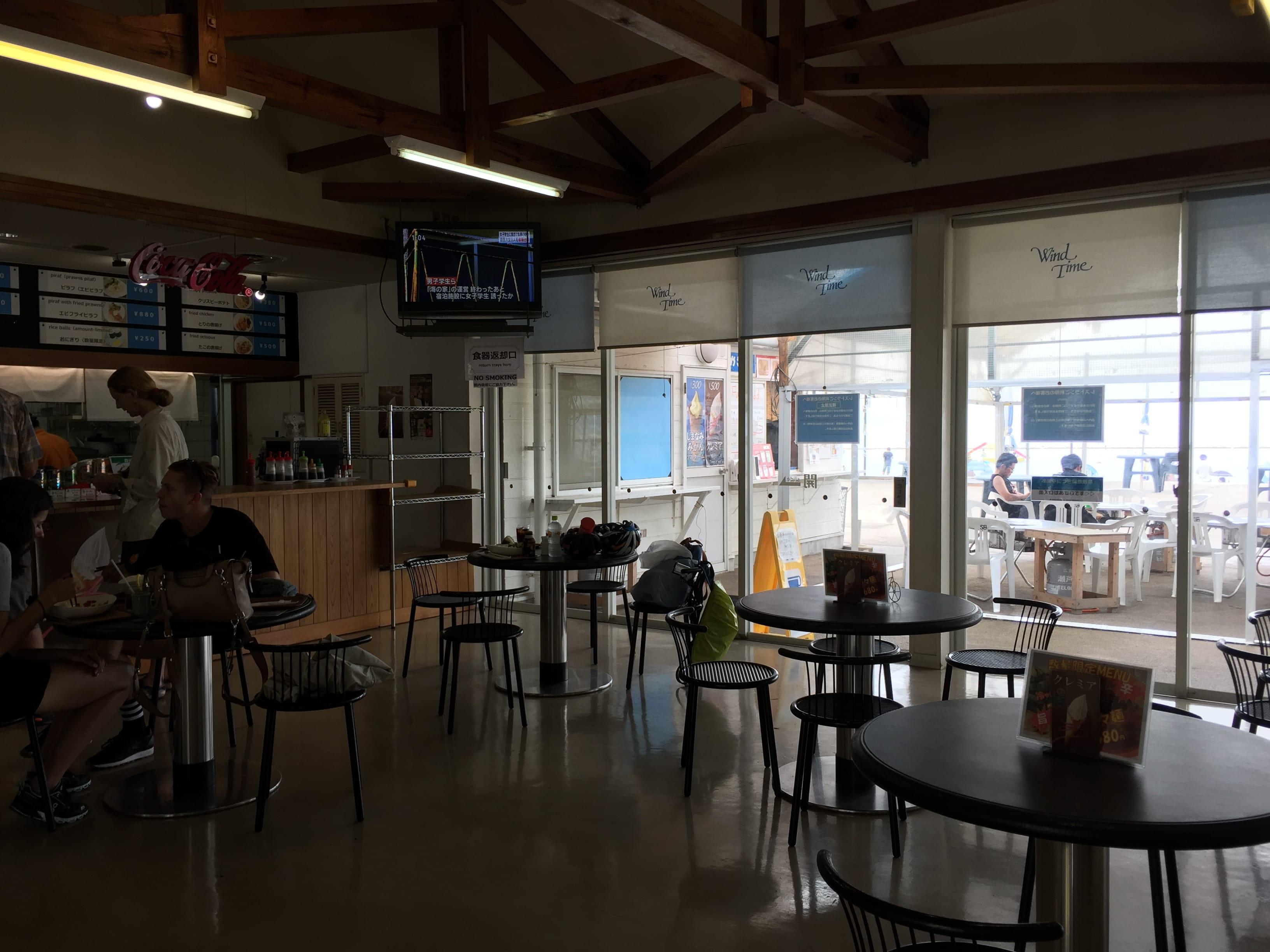 Cafe at the Setoda Sunset Beach