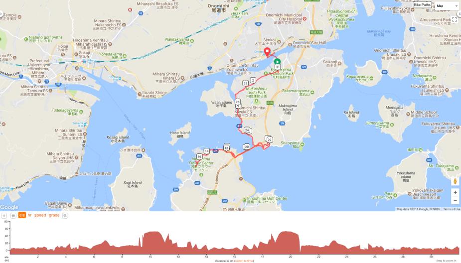 Family ride between Onomichi and Innoshima (Jan 2017)
