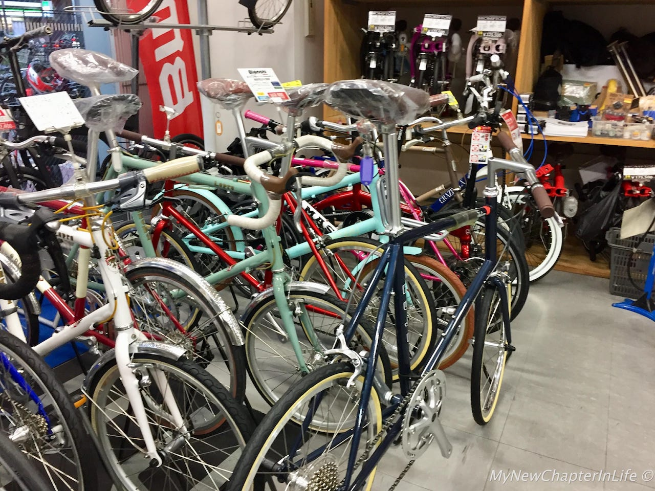Colourful Fixies on display