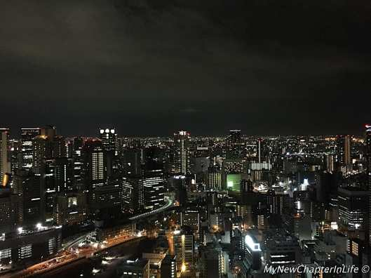 Night scenery of Osaka from the Umeda Sky Building