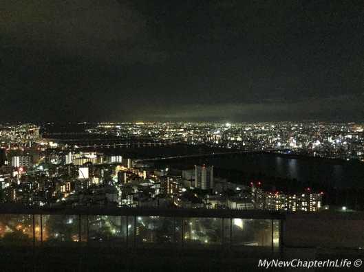 Night scenery of Osaka from the Umeda Sky Building