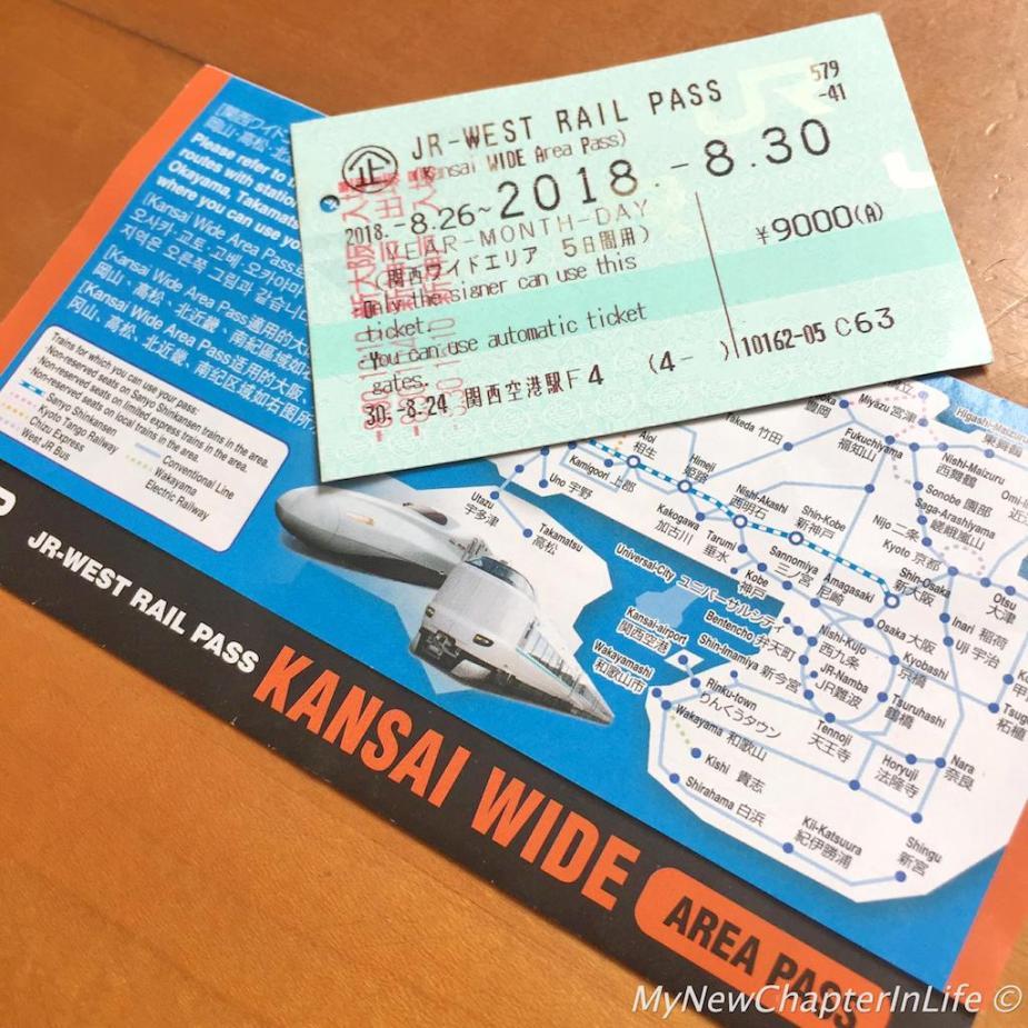 JR-West Rail Pass - Kansai Wide Area (5-Day)