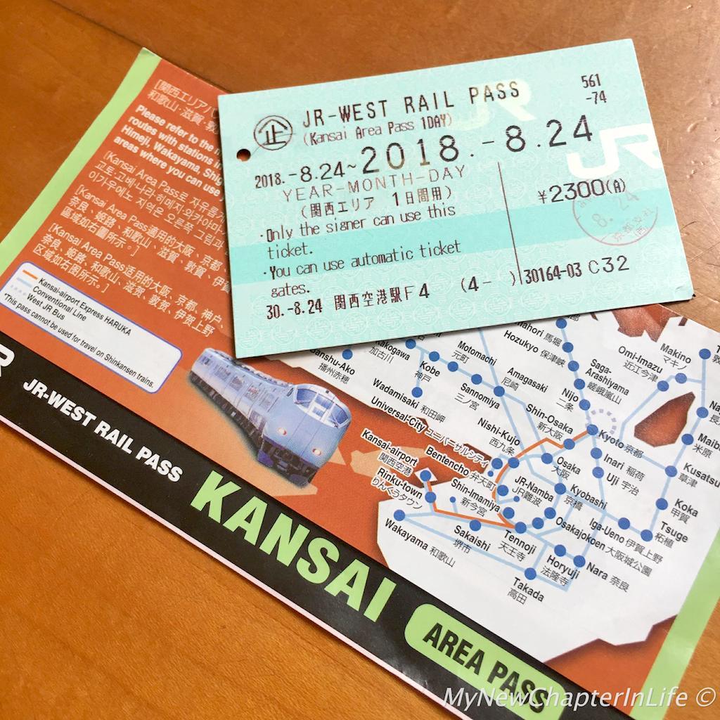 JR-West Rail Pass - Kansai Area (1-Day)