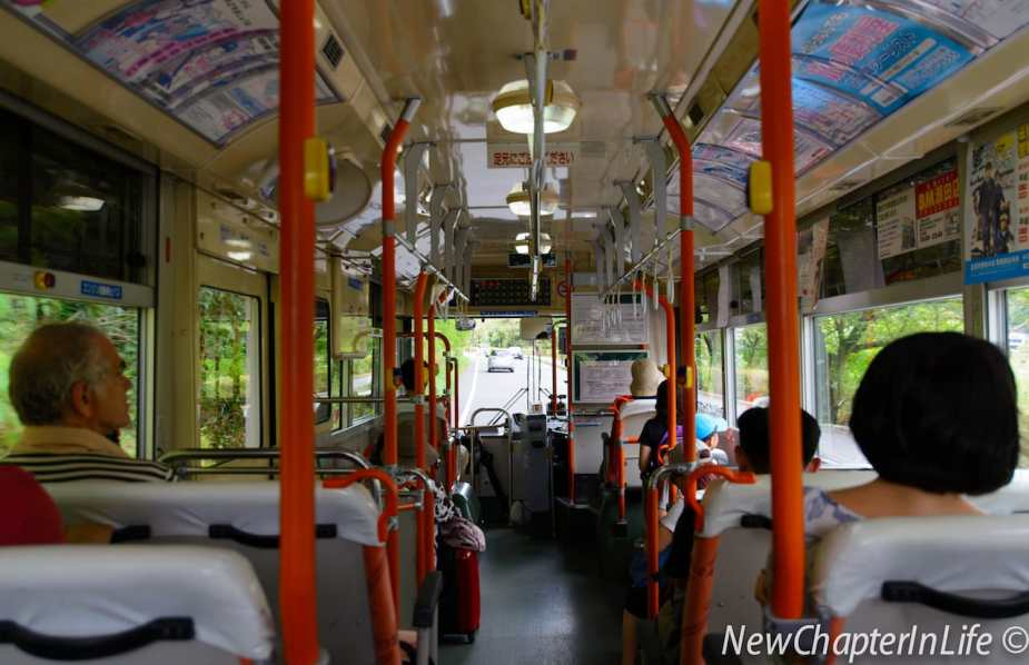 Onboard the public bus towards Miho Museum