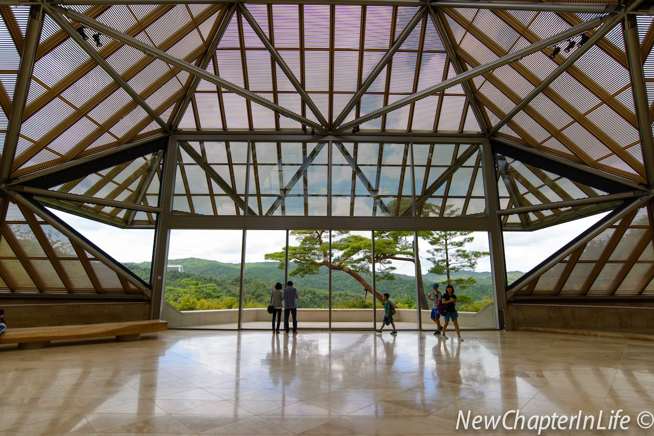The Entrance Hall at 1F of the Miho Museum
