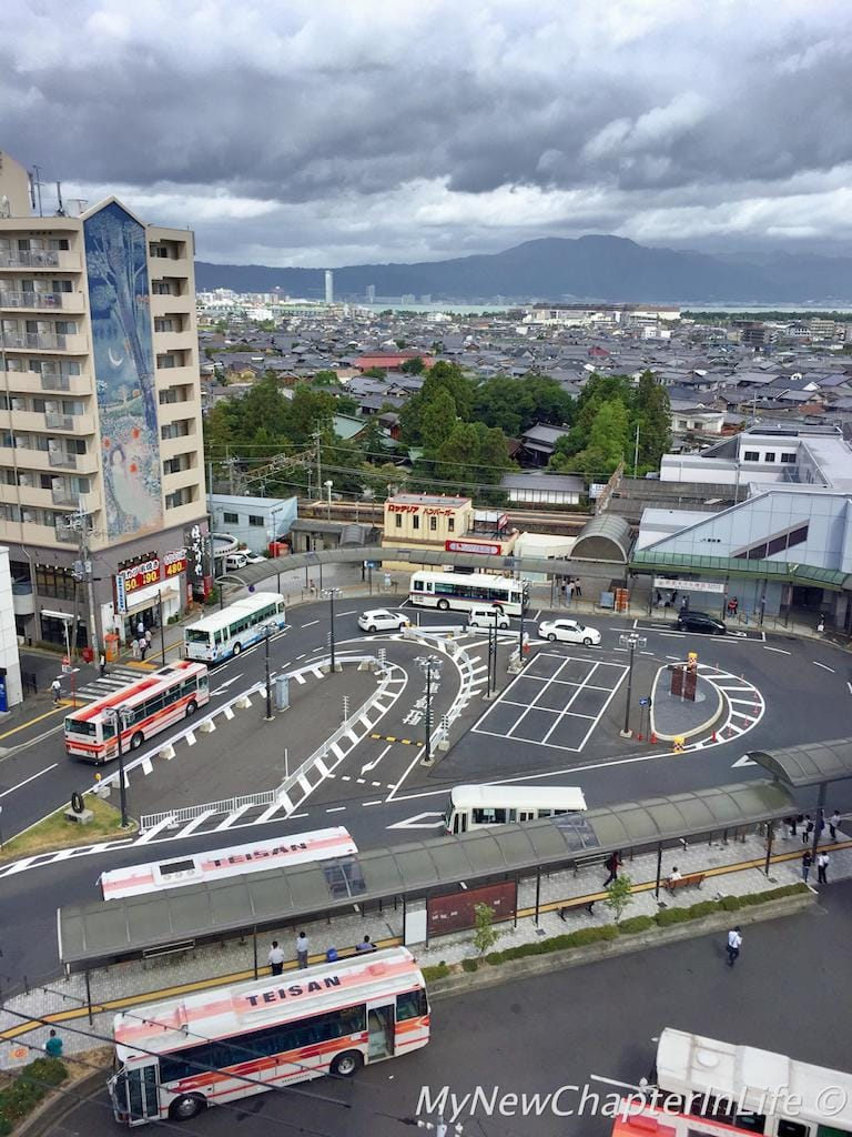 Seta JR Station and the Teisan Bus Stop