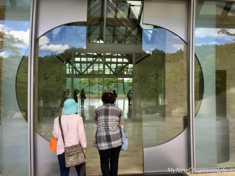Going inside to the main hall of the Miho Museum