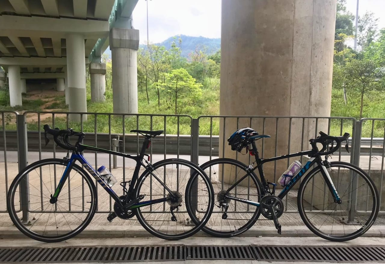 2019 Giant TCR Advanced 1-KOM and 2017 Giant TCR SLR 1
