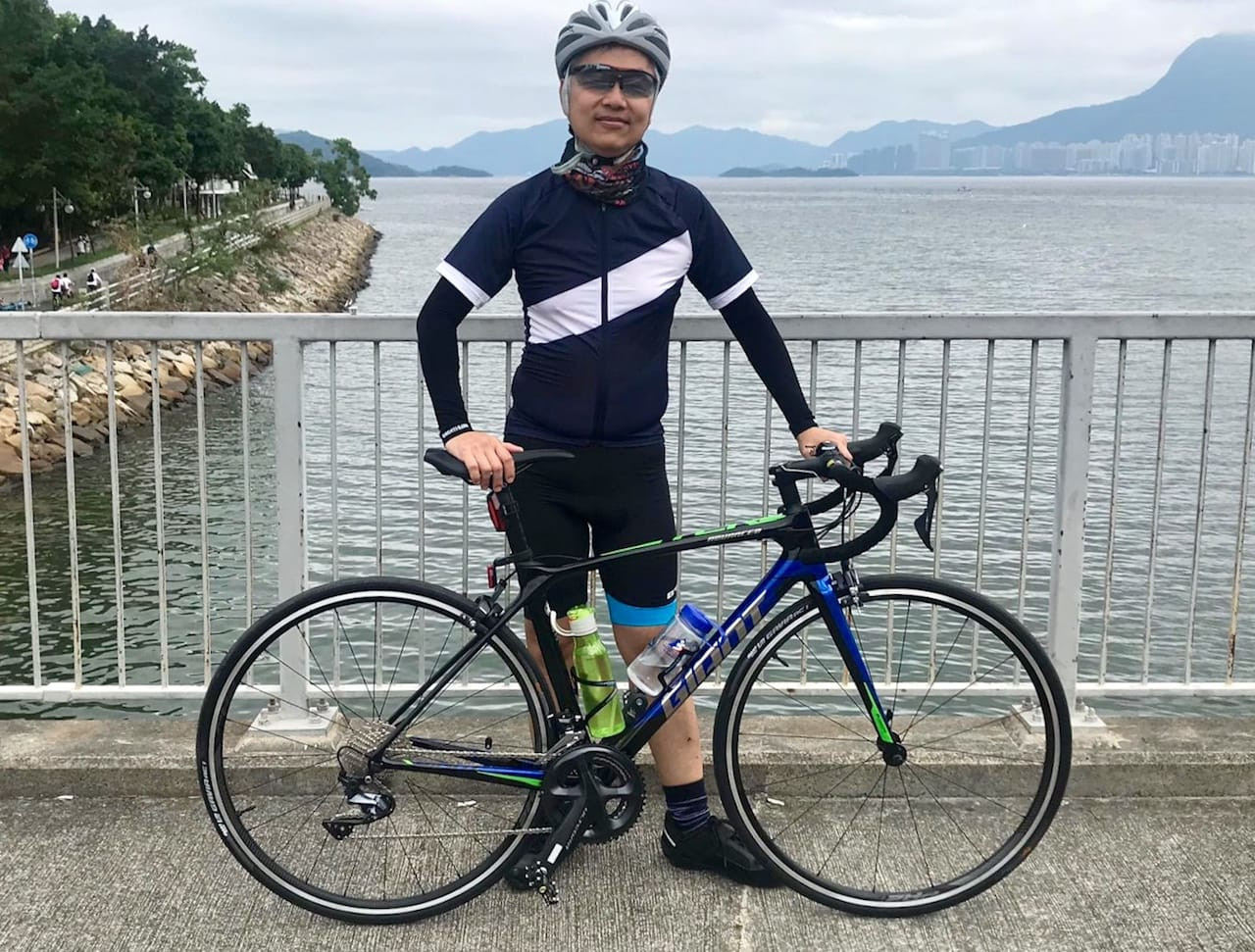 My buddy with his new 2019 Giant TCR Advanced 1-KOM
