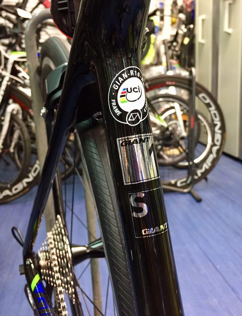UCI Approved road bike frame