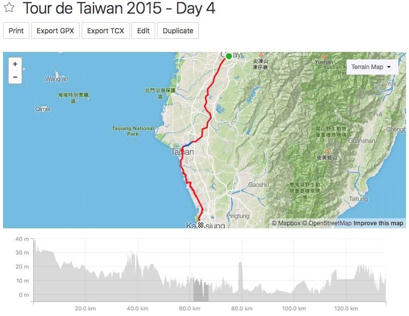 Tour de Taiwan - Day 4