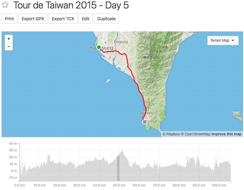 Tour de Taiwan - Day 5