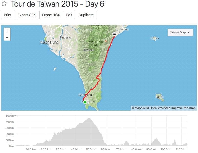 Tour de Taiwan - Day 6