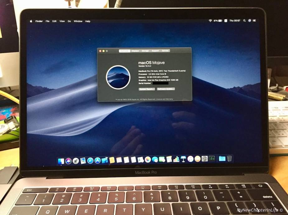 Upgraded to MacOS Mojave