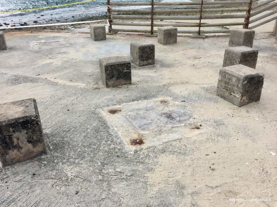 Only stone chairs remained