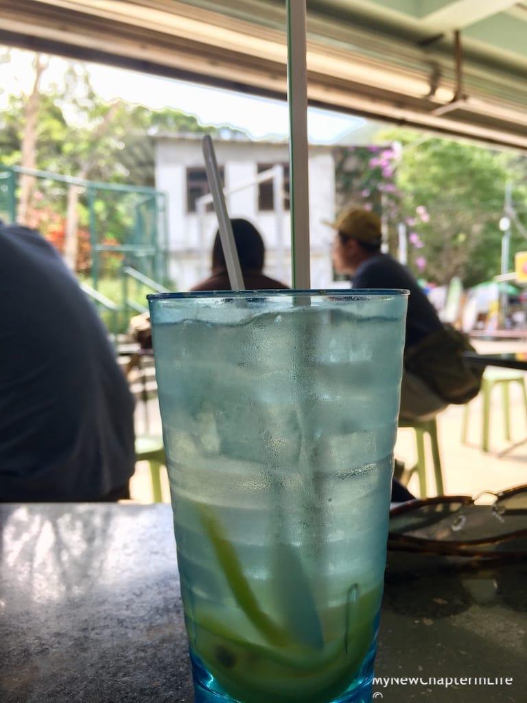 My friend's iced-lemon drink