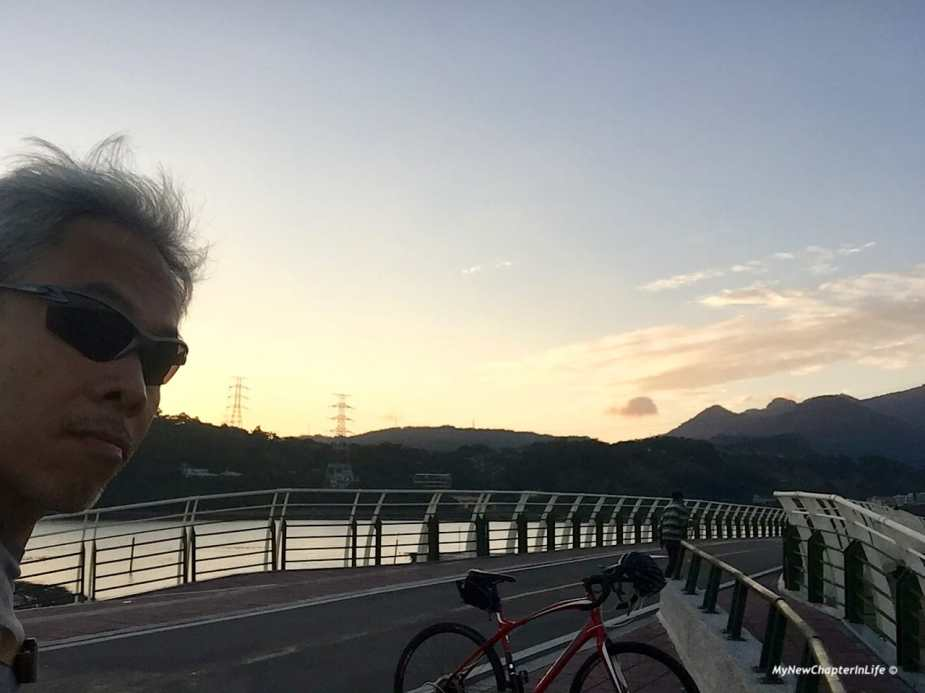 關渡自行車道的黃昏 Sunset at Guandu Bicycle Trail
