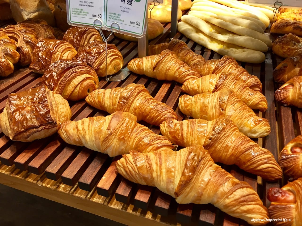 各款可頌麵包 Various Croissants
