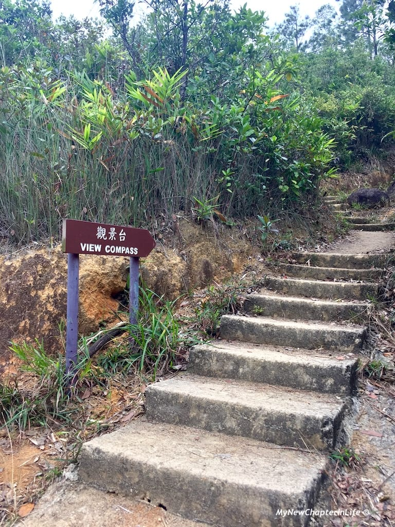 通往觀景台的石級 Steps leading to the View Compass