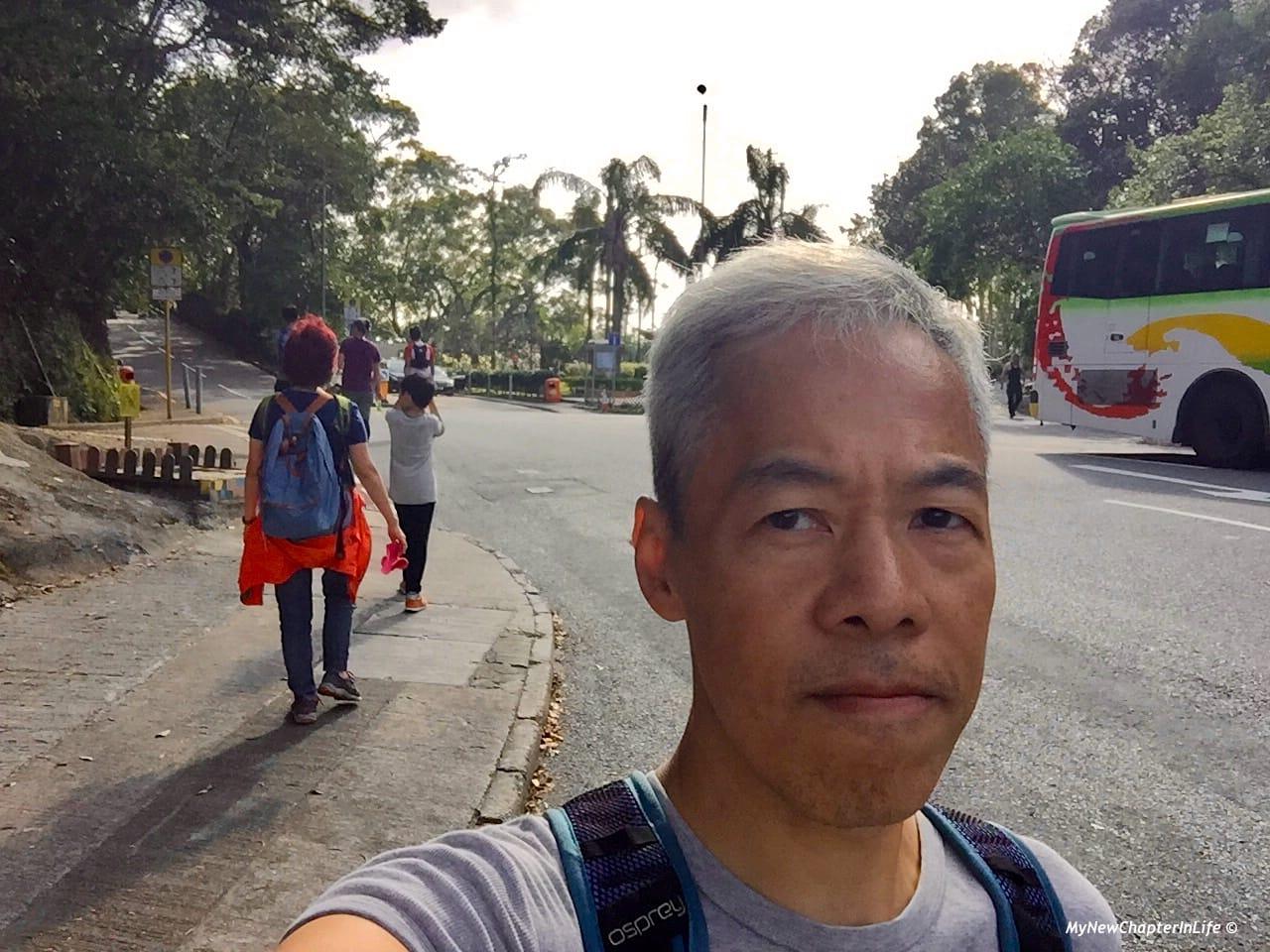 背景是灣仔峽道遊樂場 Wanchai Gap Park in the background