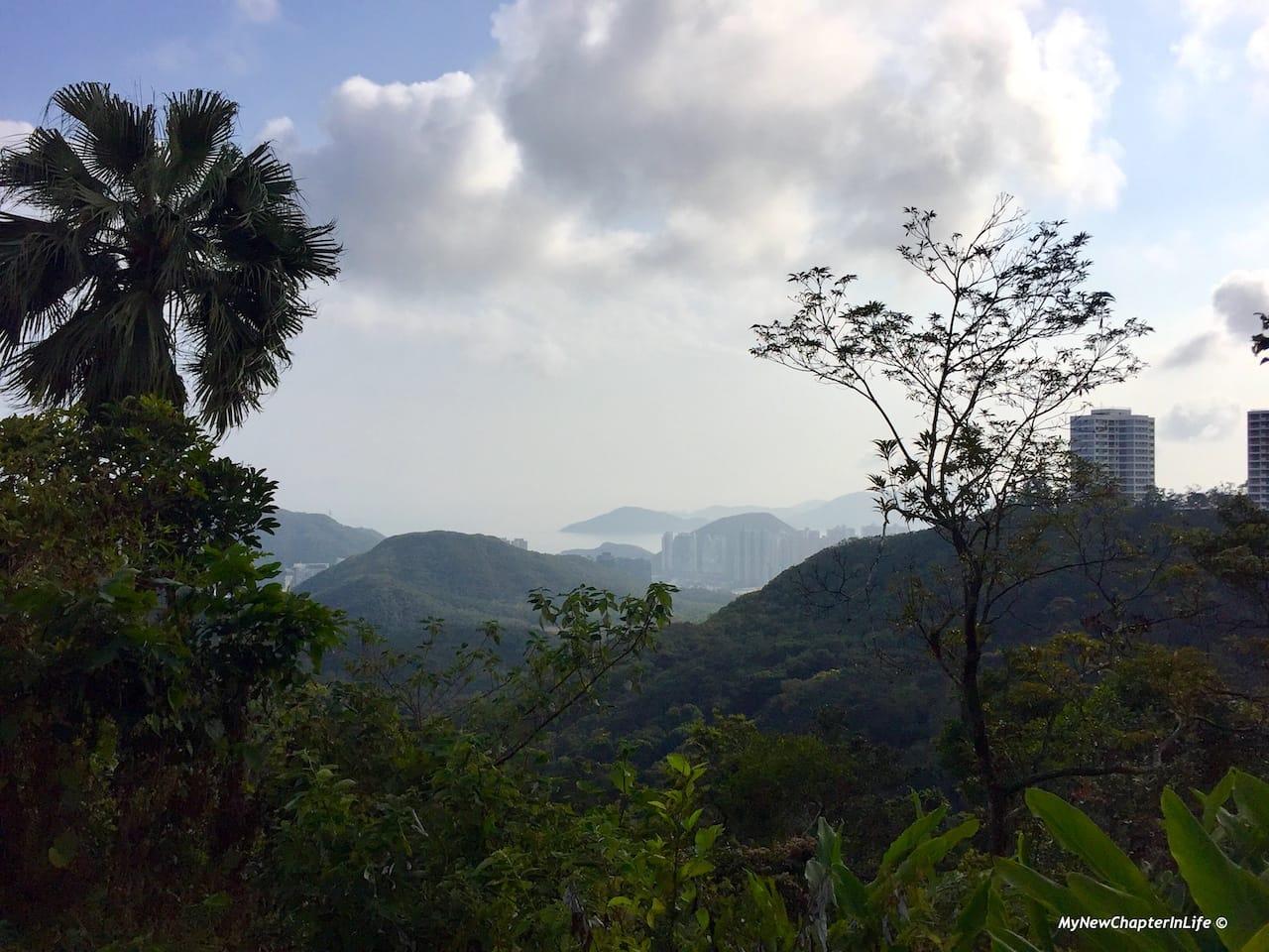 從甘道遠眺港島南區  View of the southern Hong Kong Island from Coombe Road